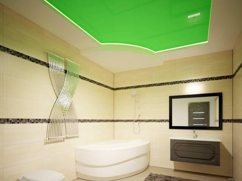 Какой выбрать потолок для ванной комнаты: советы экспертов (+ фото)