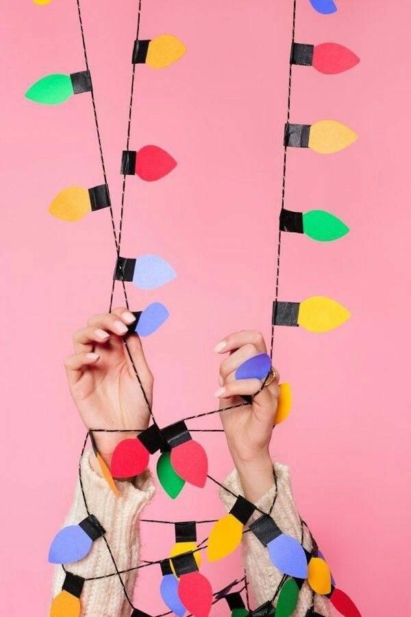 Гирлянда своими руками: новогодние модели из подручных материалов (130 фото и видео)