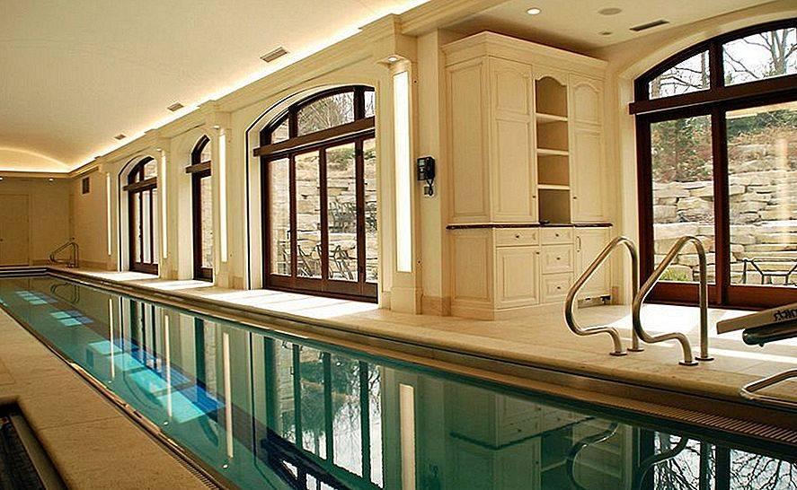 Дизайн бассейна в интерьере и экстерьере частного дома +75 фото