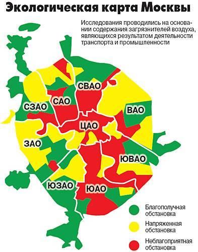 Исследование: почему бесполезно искать экологически безопасный район москвы