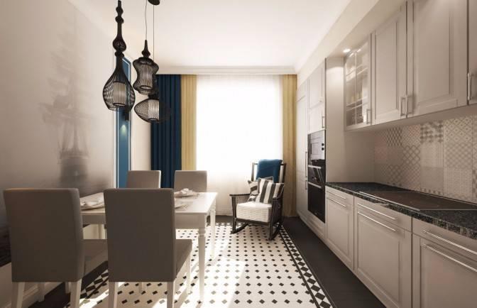 Дизайн квартиры 60 кв. м - фото планировки и варианты отделки интерьера в современном стиле