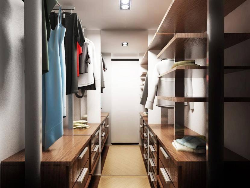 Гардеробные комнаты, дизайн-проекты, фото, нюансы выбора мебели