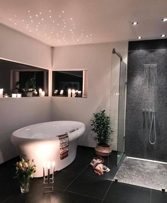 Какой лучше сделать потолок в ванной - решение вопроса в 52 фото, варианты дизайна ,советы по подбору материала