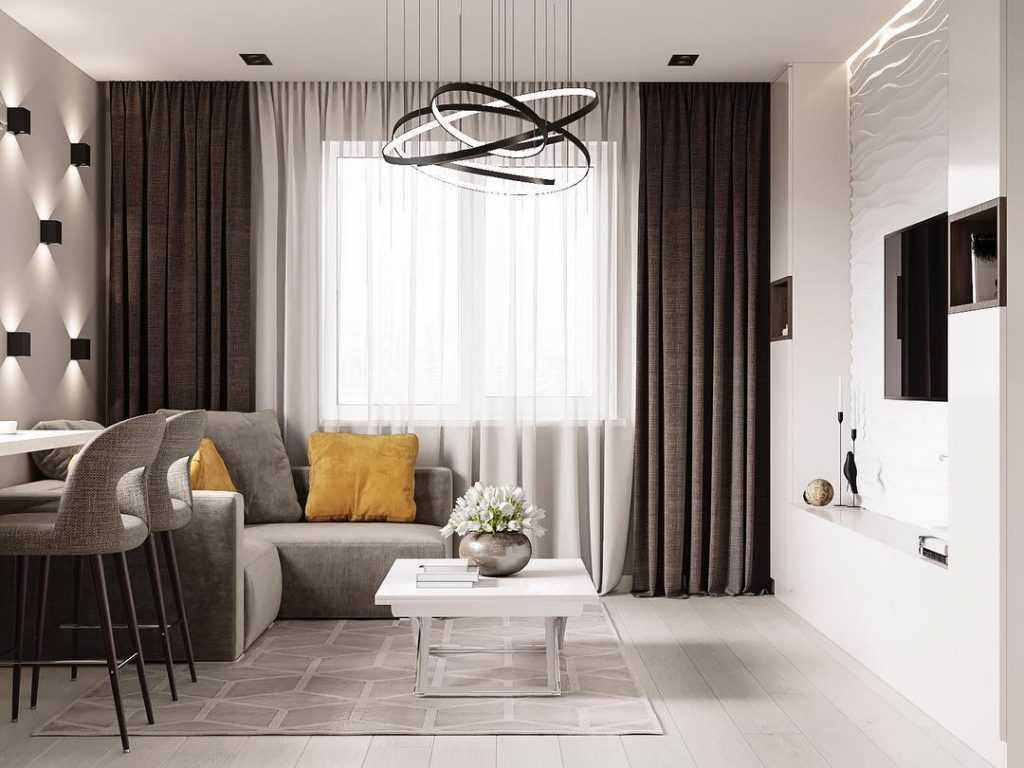 Шторы в гостиную в современном стиле: 35 вариантов на любой вкус