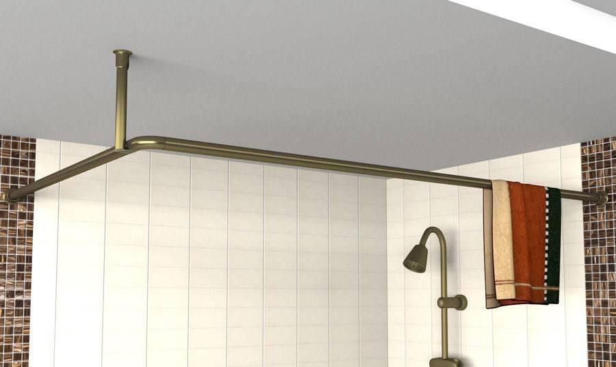 Полукруглый карниз для ванной: штанга для шторы, дуга для шторки, держатель для конструкции в ванную комнату своими руками