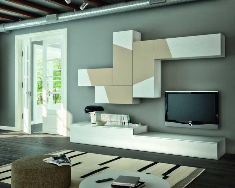 Стильные стенки-горки для гостиной
