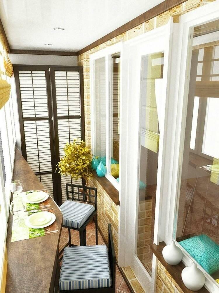 Маленький балкон – очаровательный и уютный дизайн (88 фото)