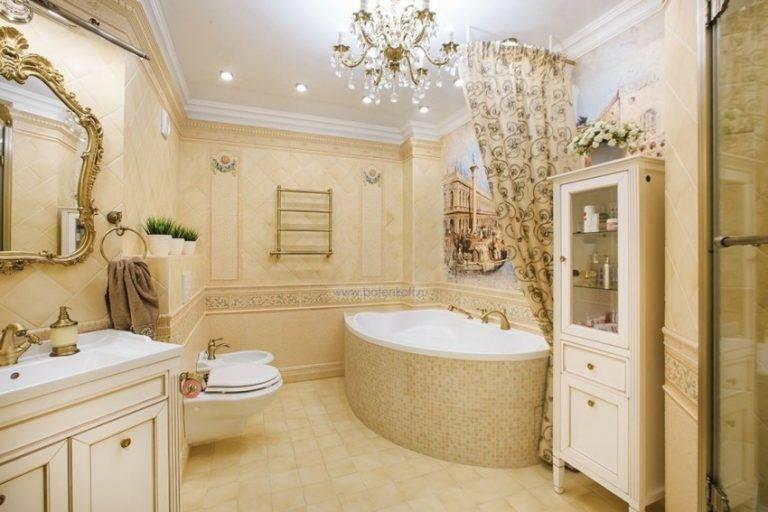 Интерьер ванной комнаты в классическом стиле. дизайн ванной комнаты в классическом стиле: особенности стиля, советы по оформлению, фото примеры