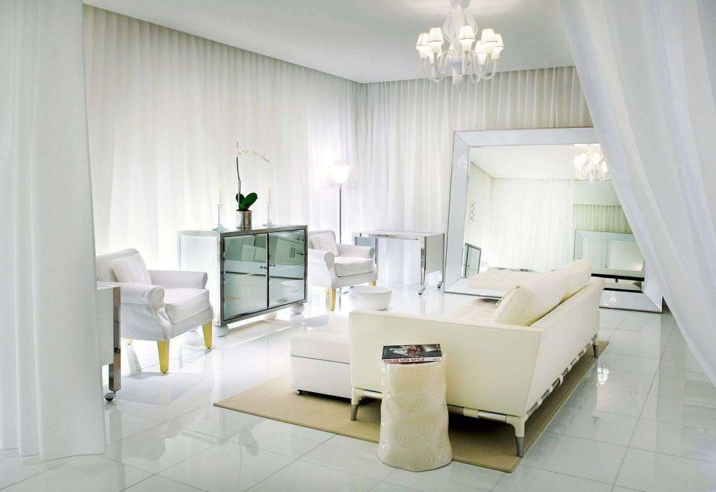 Интерьер комнат с белой мебелью