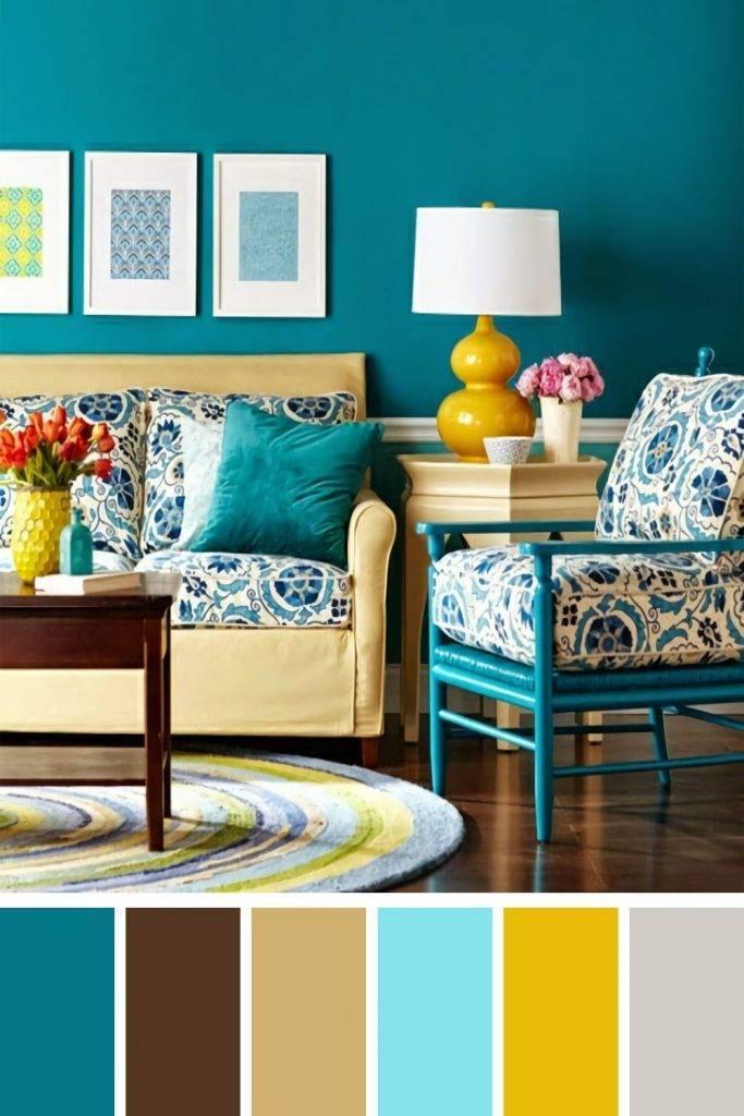 Бирюзовые обои в интерьере: виды, дизайн, сочетание с другими цветами, шторами, мебелью
