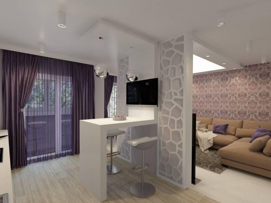 Как отделить кухню от гостиной: лучшие способы зонирования пространства (60 фото)   современные и модные кухни