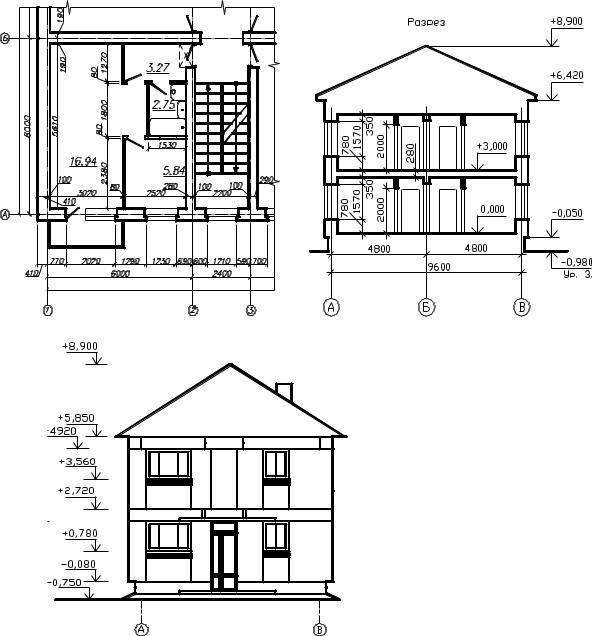Фасад дома – чертёж от эскиза до готового проекта | строй легко