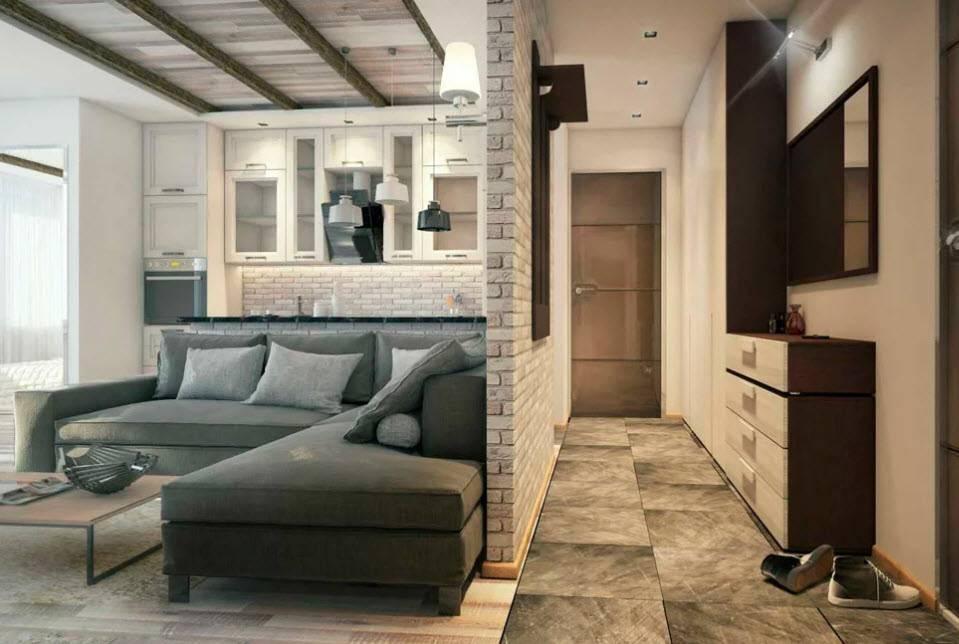 100 лучших идей дизайна: однокомнатная квартира 40 кв.м. на фото