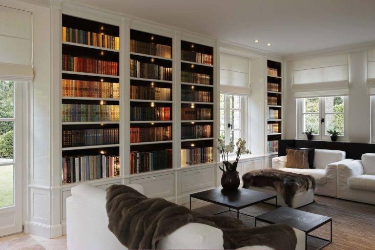 Интерьер библиотеки +50 фото примеров дизайна   правильный дизайн квартиры и дома