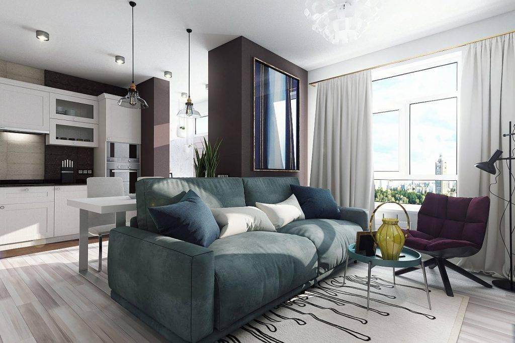 Дизайн квартиры 35 кв. м.– фото, зонирование, идеи обустройства интерьера