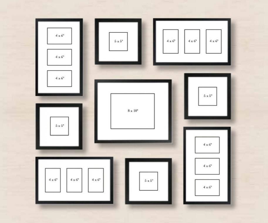 Фоторамки в интерьере - 70 идей по размещению на стене