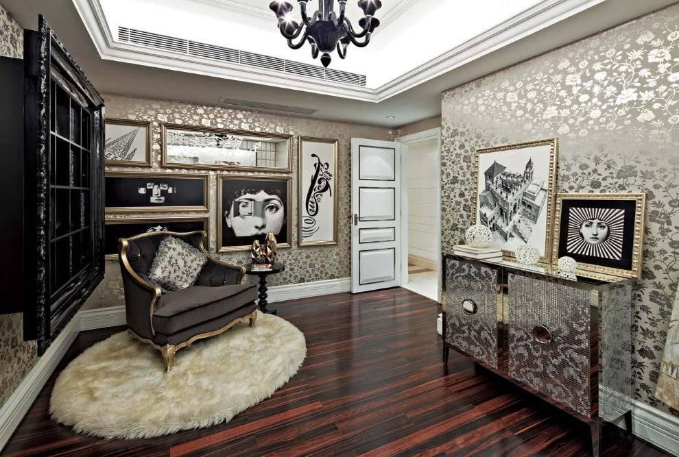 Оформление гостиной или зала в стиле арт деко
