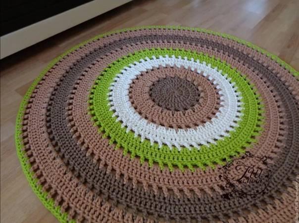 Как связать коврик крючком из ниток: какая пряжа подойдёт для коврика,вязаного крючком?