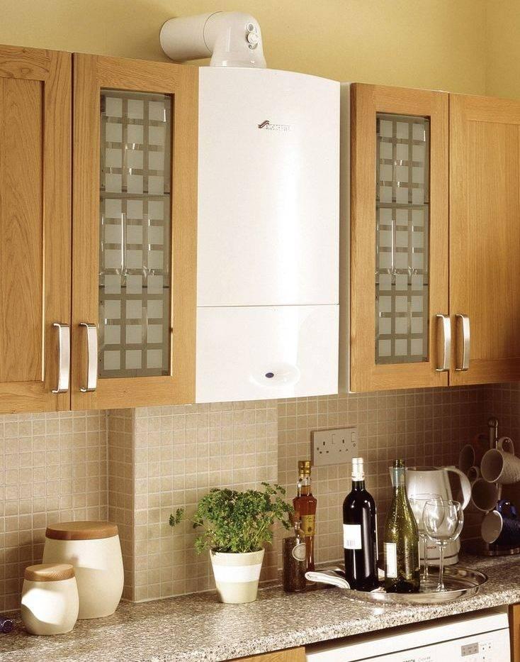 Как спрятать газовый котел, напольный или настенный? выбор места: на кухне или в гостиной - в нише, в шкафу или в кухонный гарнитур, подбор идей и удачные фото