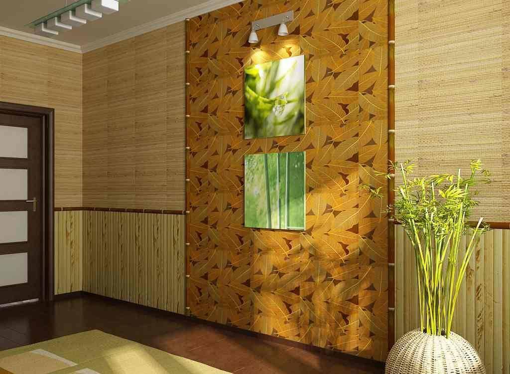 С чем сочетать бамбуковые обои