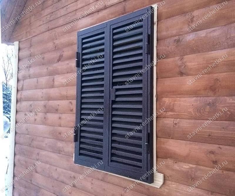 Ставни на окна для дачи: виды и изготовление своими руками - «декор»