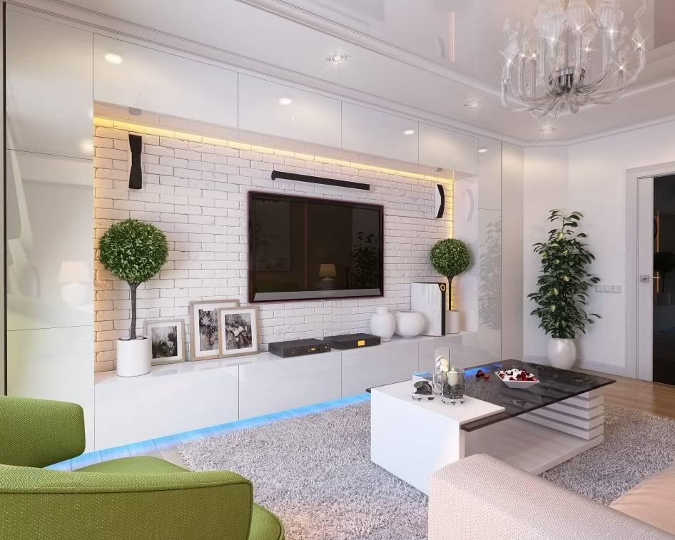100 лучших идей дизайна: как разместить телевизор на стене