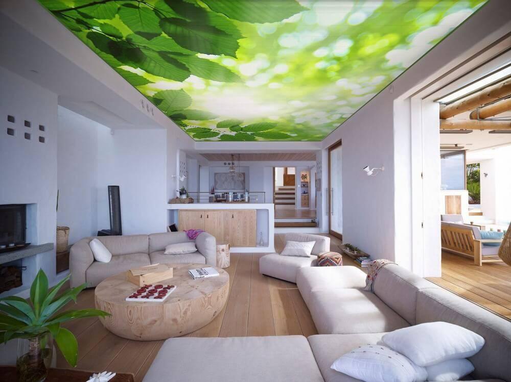 Белый натяжной потолок (40 фото): потолок белого цвета в интерьере, простые строгие и фактурные варианты с узором и блестками