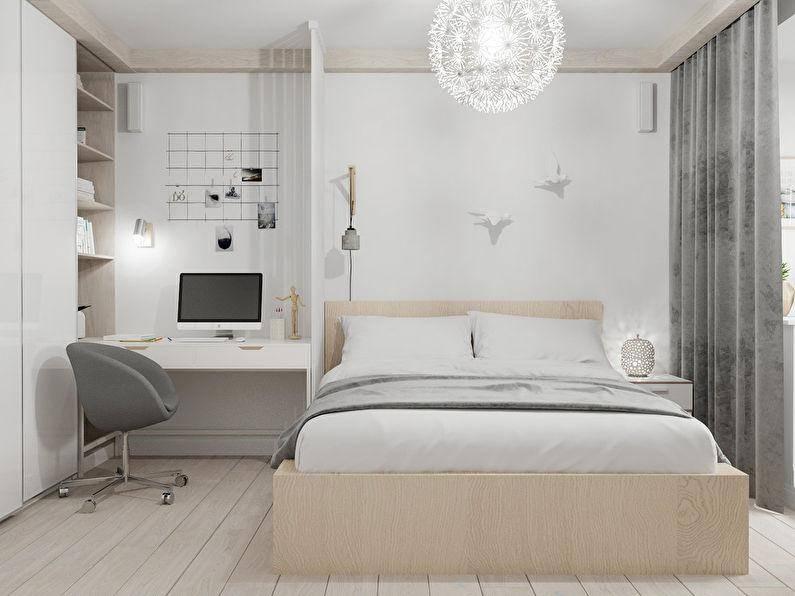 Дизайн спальни 9 кв м