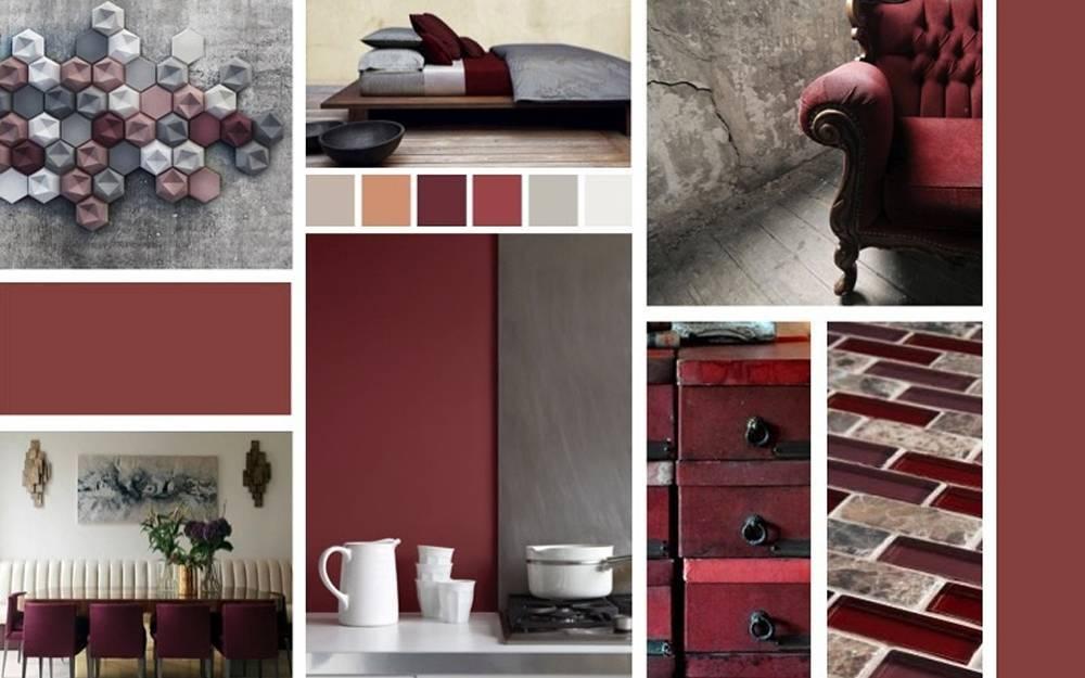 Бордовый цвет в интерьере: 23 варианта оформления комнат