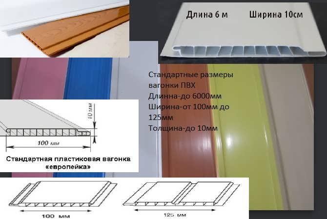 Панели пвх: размеры и виды отделочных материалов