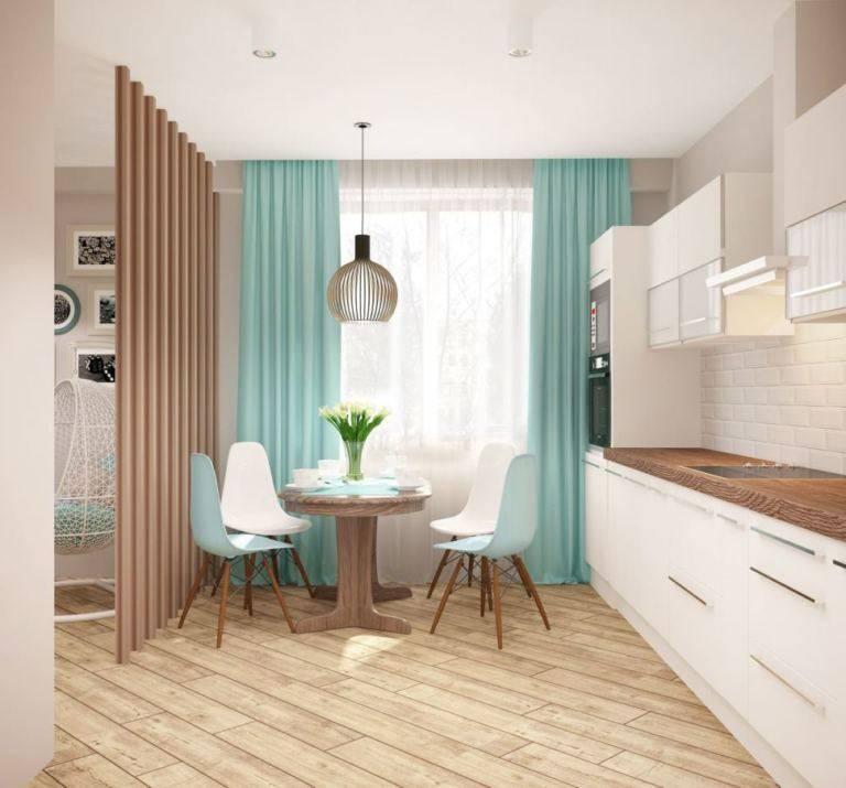 Дизайн кухни 13 кв. м с диваном