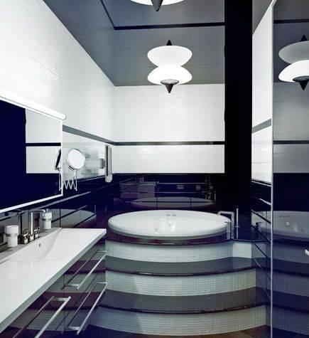 Нюансы дизайна ванной в стиле хай-тек