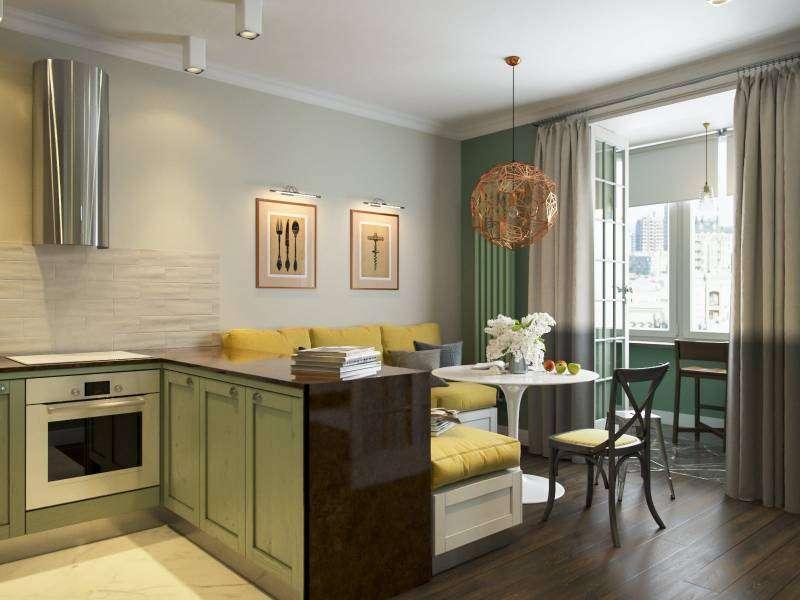 Кухня 15 кв м: дизайн интерьера, планировка