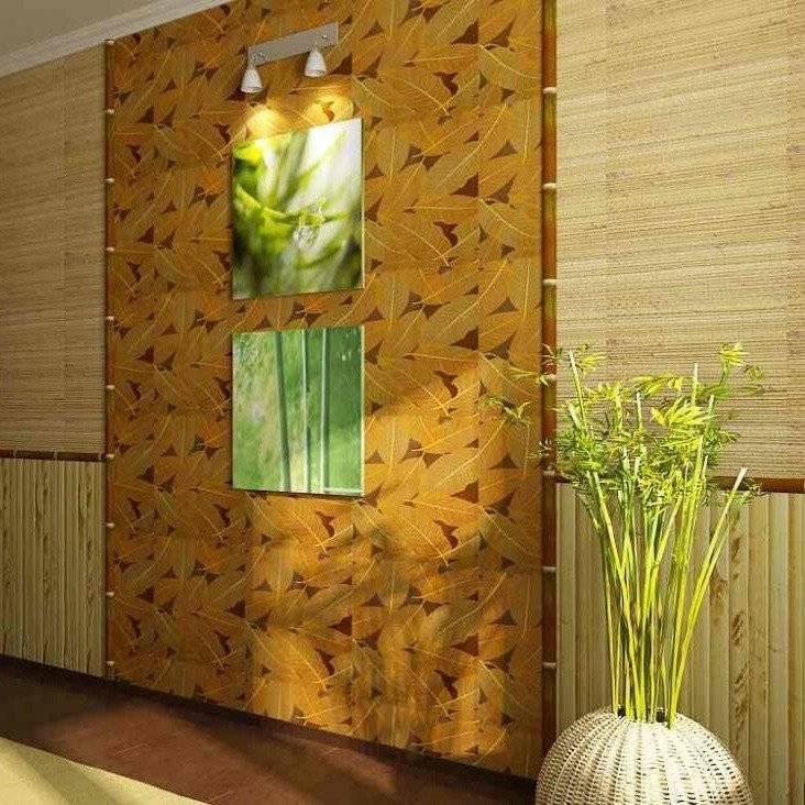 Бамбуковые обои: виды, фото в интерьере, цвет, комбинирование, как клеить, уход