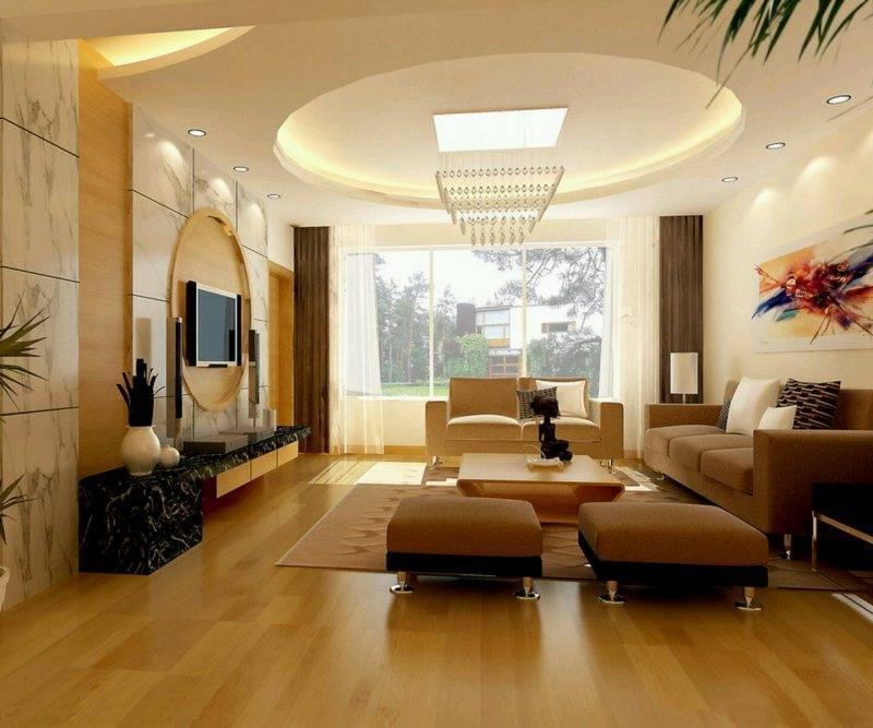 Дизайн потолка в зале, дизайн потолка в гостиной - варианты и фото