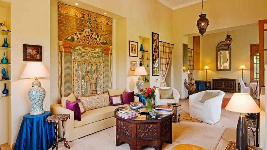 Марокканский стиль в интерьере кухни, гостиной, спальни