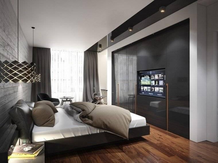 Спальня в стиле хай-тек: 50 фото, идеи дизайна