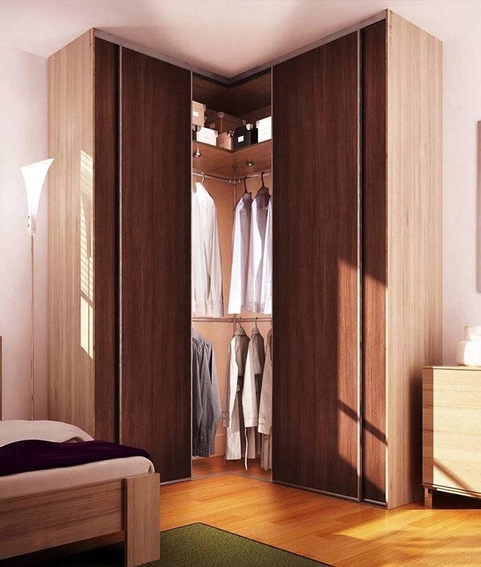 Угловые шкафы в спальню: разновидности и особенности выбора