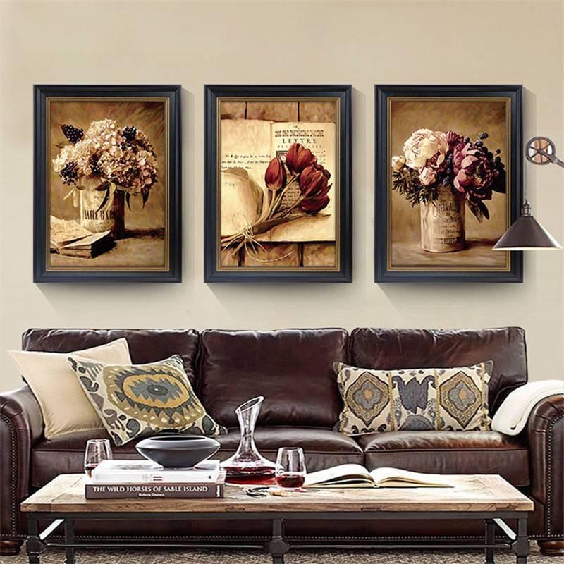 Значение картин, как части интерьера - фото примеров