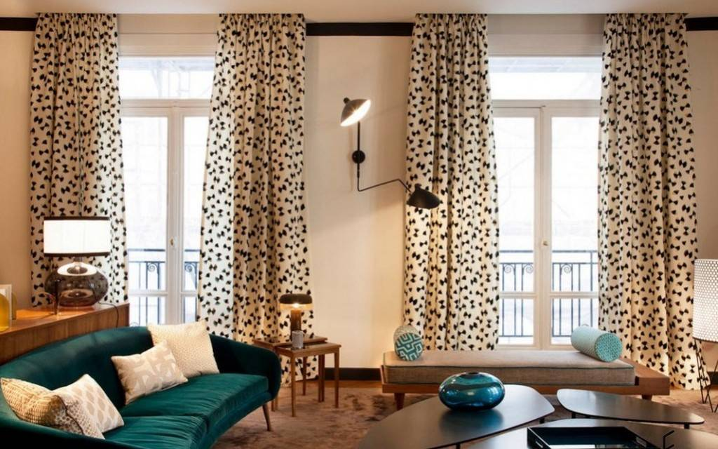 Двухсторонние шторы - 64 фото лучших идей дизайна, и сочетания