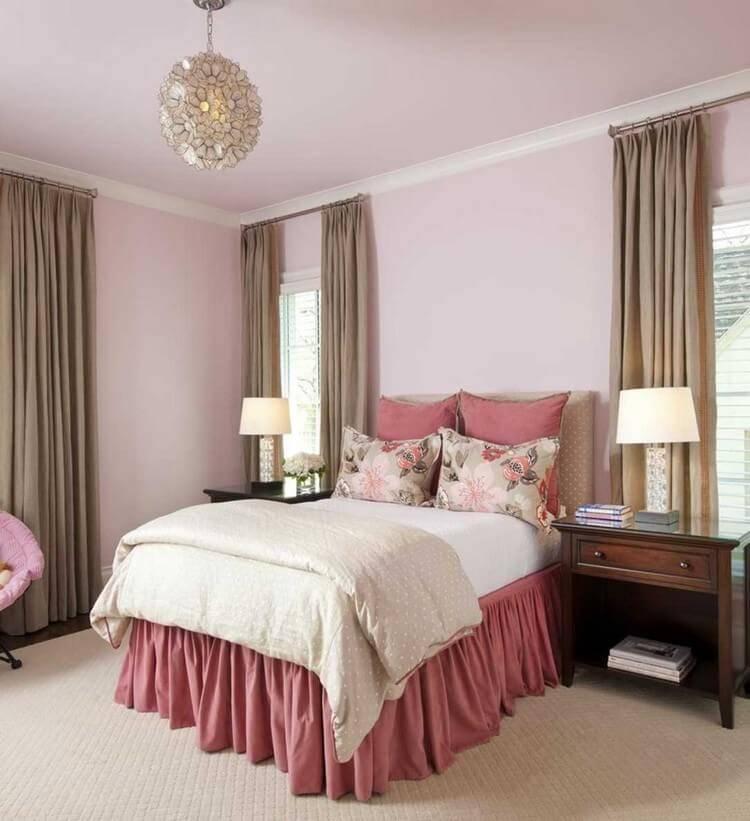 Мега красивая спальня в бежевых тонах, дизайн фото оригинальные