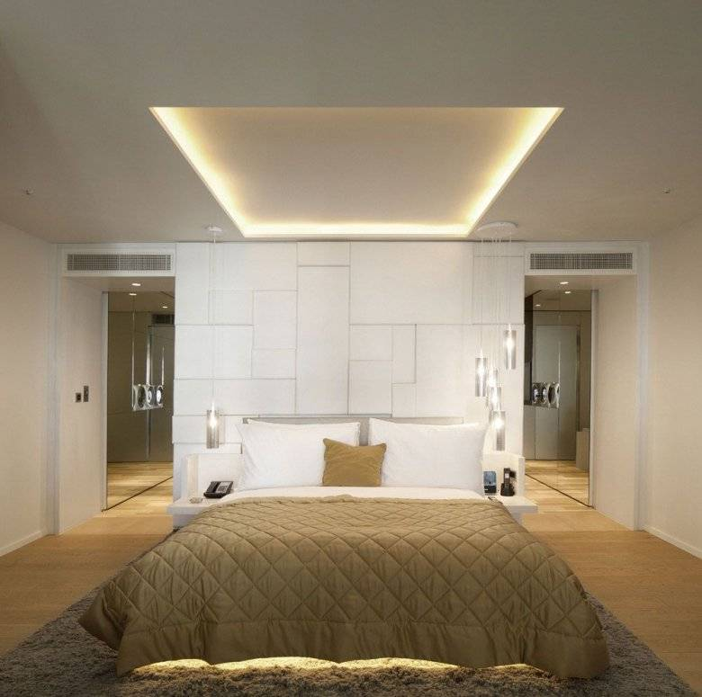 Принципы и правила освещения в спальне