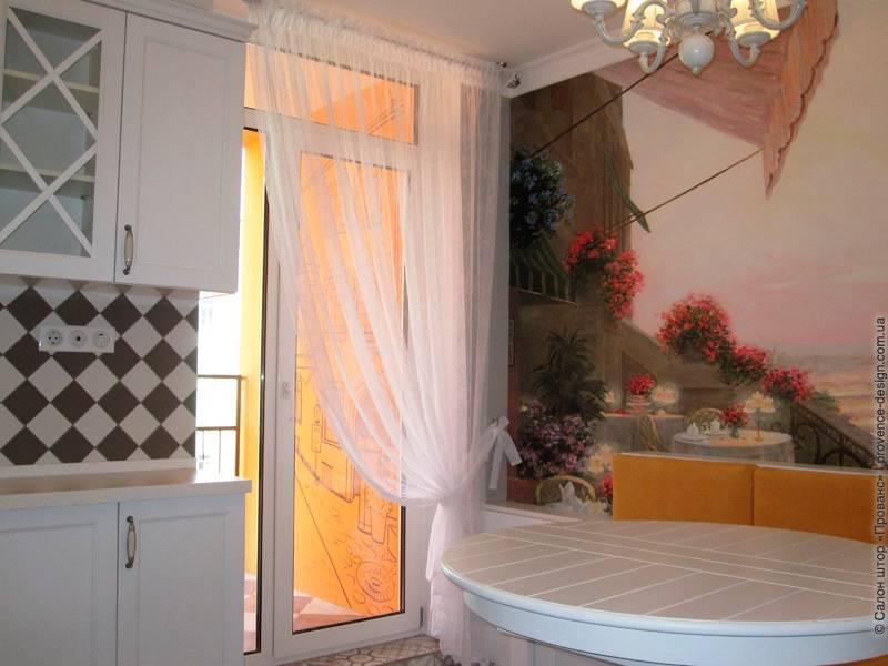 Шторы на кухню с балконной дверью: виды штор, как подобрать ткань и карниз, 70+ фото примеров
