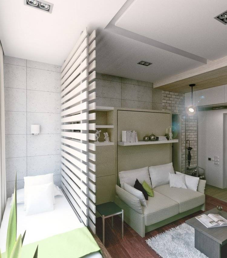 Дизайн квартиры студии 20 кв. м. 5 фото-проектов
