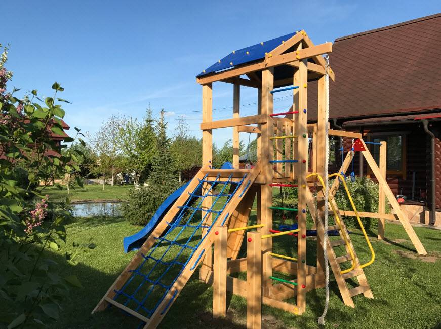 Игровая детская площадка на даче своими руками: 75 фото идей