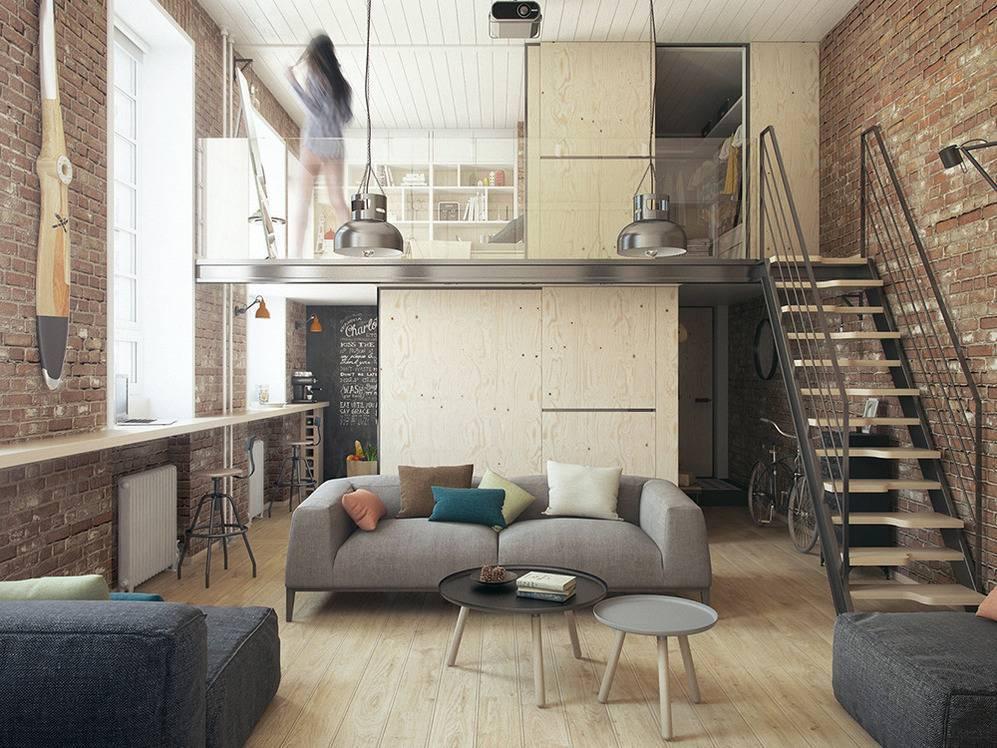 Великолепные двухуровневые квартиры: 70 фото с реальными примерами