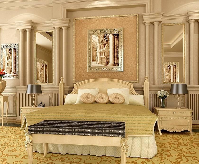 Модульные картины в интерьере спальни над кроватью (фото)