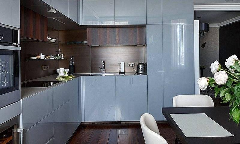 Прямая кухня 3 метра с холодильником (24 фото): дизайн линейной встроенной кухни с холодильником