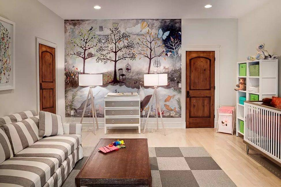 Обои для детской комнаты - 85 фото, как комбинировать, красивые идеи дизайна, советы по выбору
