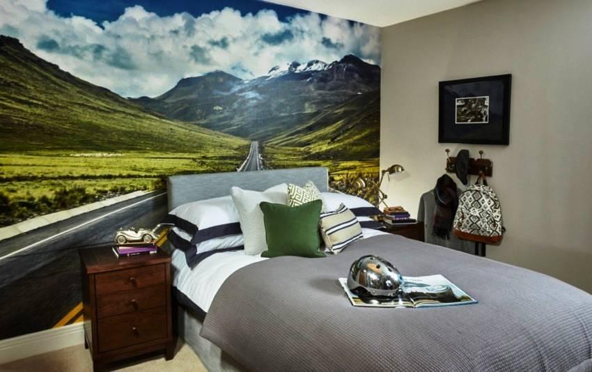 Фотообои в интерьере гостиной: способы использования и полезные советы по оформлению